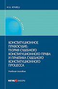 Игорь Кравец - Конституционное правосудие: теория судебного конституционного права и практика судебного конституционного процесса