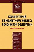 А. Н. Борисов -Комментарий к Бюджетному кодексу Российской Федерации