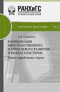 Алла Сорокина - Координация пространственного и отраслевого развития в рамках кластеров. Опыт зарубежных стран