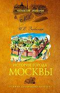 И. Е. Забелин - История города Москвы. От Юрия Долгорукого до Петра I