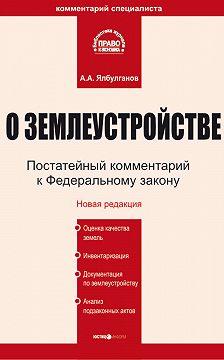 Александр Ялбулганов - Комментарий к Федеральному закону «О землеустройстве»