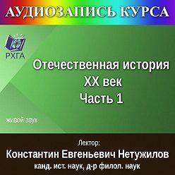 К. Е. Нетужилов - Цикл лекций «Отечественная история. XX век. Часть 1»