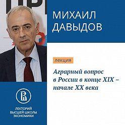 Михаил Давыдов - Аграрный вопрос в России в конце XIX – начале XX века