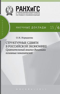 Ольга Изряднова - Структурные сдвиги в российской экономике: сравнительный анализ динамики основных показателей