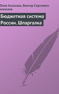 Юлия Асоскова - Бюджетная система России. Шпаргалка
