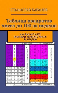 Станислав Баранов - Таблица квадратов чисел до100занеделю. Как выучить квадраты чисел без зубрежки занеделю
