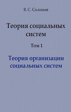 Владимир Соловьев - Теория социальных систем. Том 1. Теория организации социальных систем