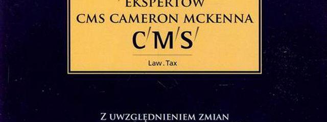 Kasy fiskalne 2013 wraz z komentarzem ekspertów CMS Cameron McKenna