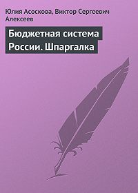 Юлия Асоскова, Виктор Сергеевич Алексеев - Бюджетная система России. Шпаргалка