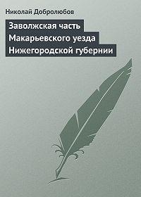 Николай Добролюбов -Заволжская часть Макарьевского уезда Нижегородской губернии