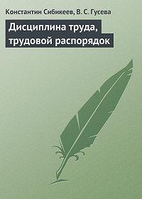 Константин Сибикеев -Дисциплина труда, трудовой распорядок