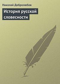 Николай Добролюбов -История русской словесности