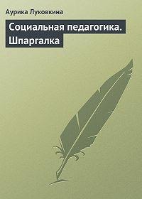 Аурика Луковкина -Социальная педагогика. Шпаргалка