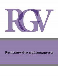 Deutschland -Rechtsanwaltsvergutungsgesetz – RVG