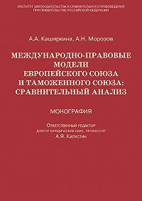 Андрей Морозов -Международно-правовые модели Европейского Союза и Таможенного союза: сравнительный анализ