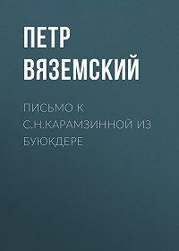 Петр Андреевич Вяземский -Письмо к С.Н.Карамзинной из Буюкдере