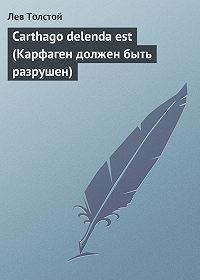 Лев Толстой - Carthago delenda est (Карфаген должен быть разрушен)