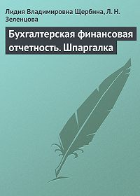 Лидия Владимировна Щербина -Бухгалтерская финансовая отчетность. Шпаргалка
