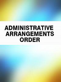 Australia -Administrative Arrangements Order