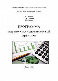 Игорь Бондин, Ирина Павлова, Татьяна Ельшина - Программа научно-исследовательской практики