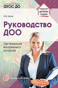 К. Ю. Белая -Руководство ДОО. Организация внутреннего контроля